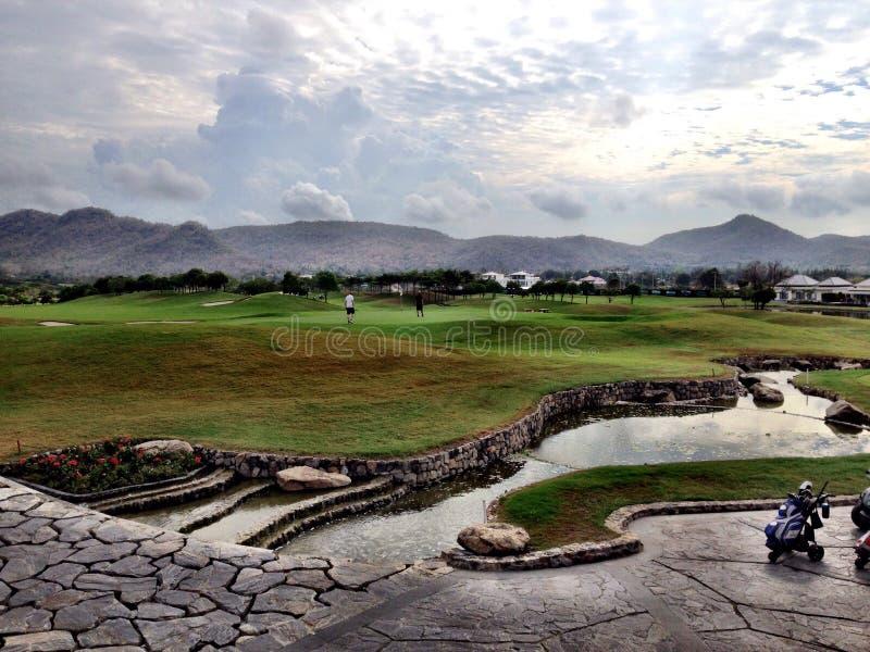 Golfcourse Thailand Hua Hin stock fotografie