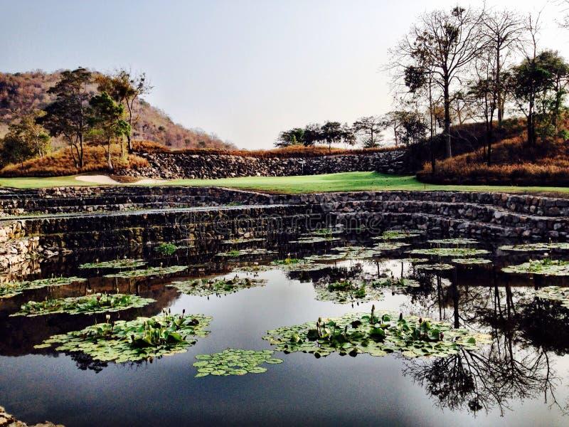 Golfcourse Thailand Hua Hin royalty-vrije stock fotografie