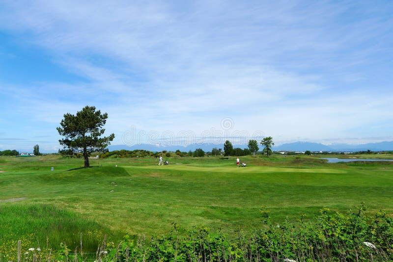 Golfcursus in Canada stock afbeeldingen