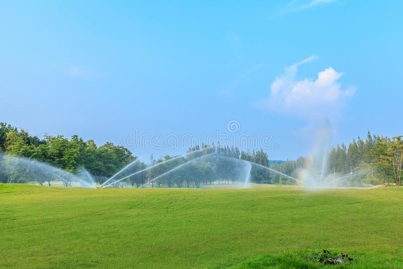 Golfcursus in Open Kuil royalty-vrije stock afbeelding