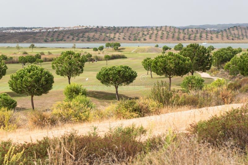 Golfcursus in Spanje stock foto
