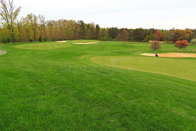 Golfcursus Virginia stock foto's