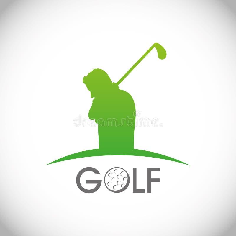 Golfdesign vektor illustrationer