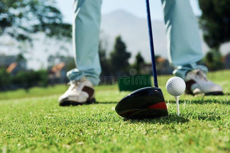 Golfdrev royaltyfria bilder