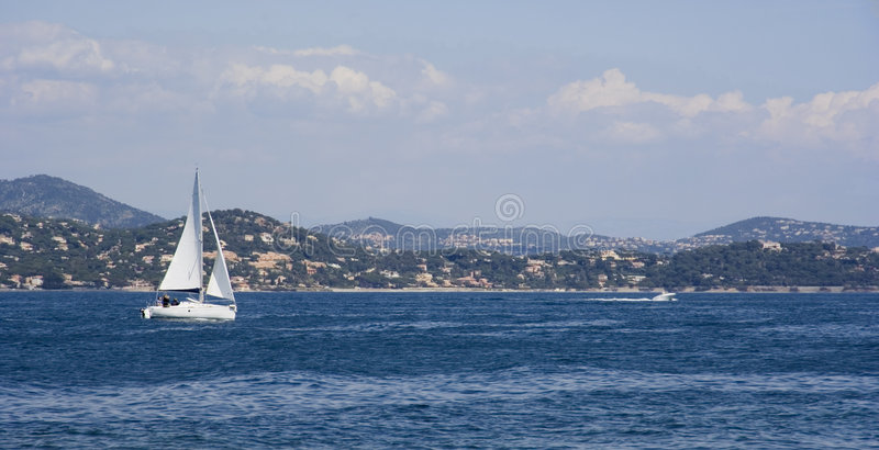 Golfe de saint-tropez photo stock