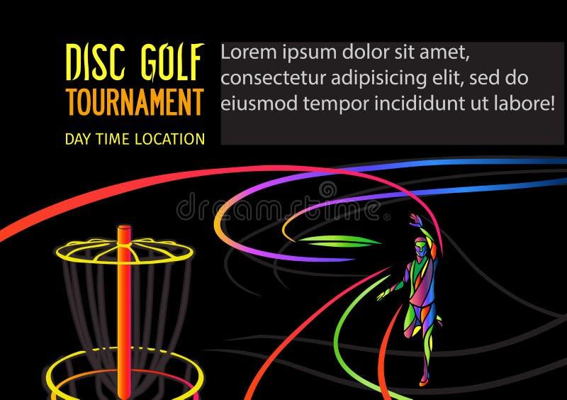 Golfe do disco ou de esportes de Frolf bandeira ilustração do vetor