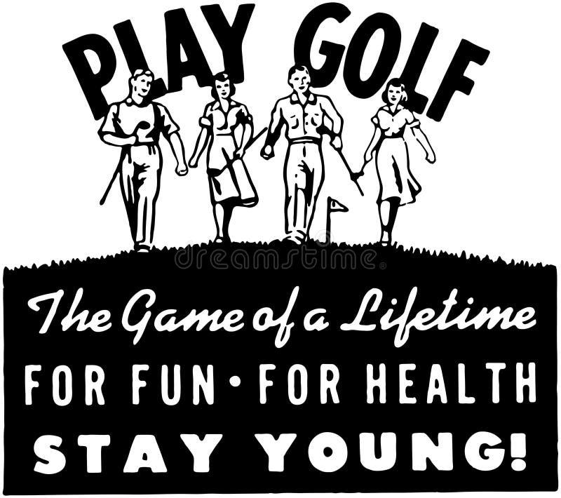 Golfe 2 do jogo ilustração do vetor