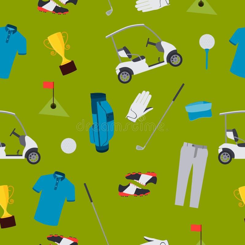 Golfe sem emenda do teste padrão ilustração royalty free