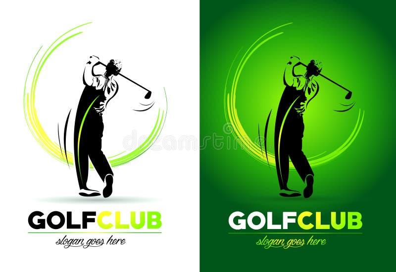Golfembleem vector illustratie