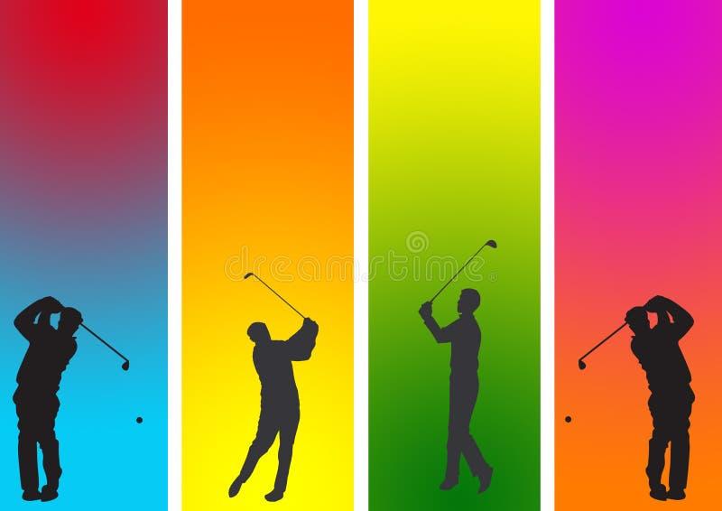 Golfer 1 royalty free illustration