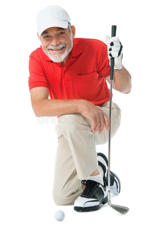 Golfer. Isolated on a white background stock images