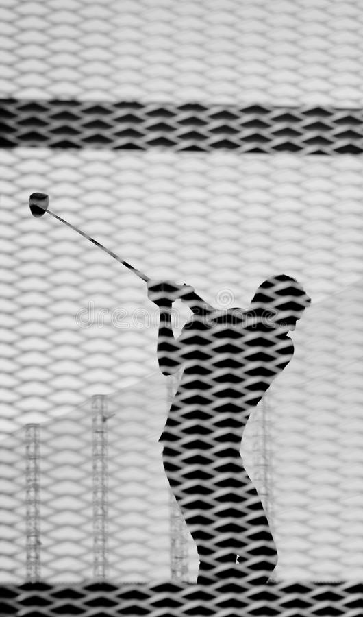 Download Golfer stock image. Image of anonymous, silhouette, hitting - 20709731