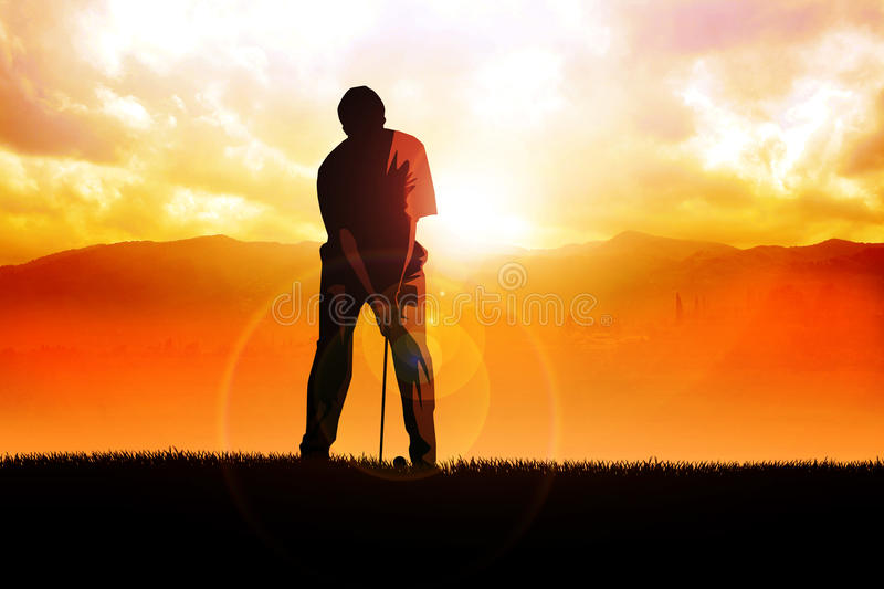 Download Golfer stock illustration. Image of illustration, cloudy - 24513641