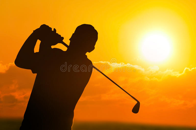 Download Golfer stock photo. Image of hitting, silhouette, club - 24996244