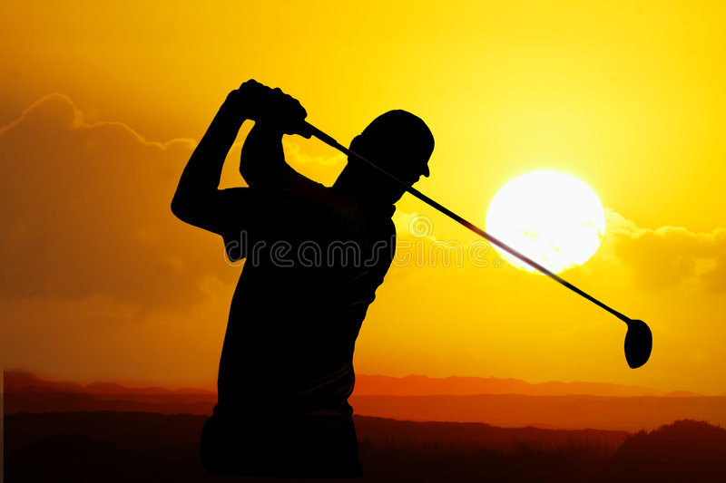 Download Golfer stock image. Image of concentration, silhouette - 3930459