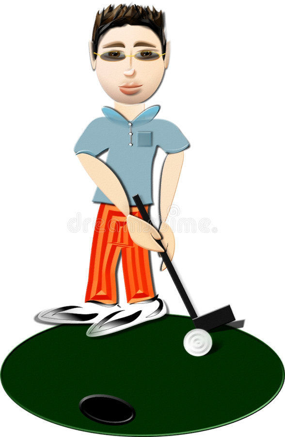 Golfer stock illustration