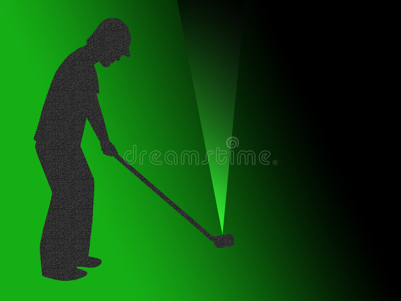 Golfer vector illustration