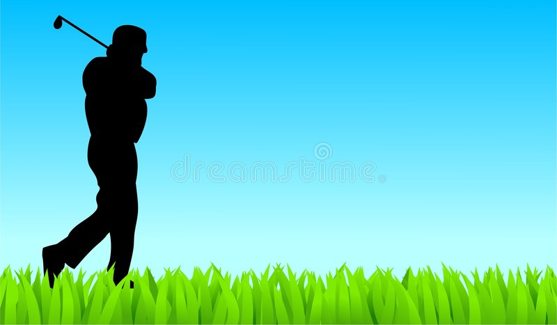 Golfer stock illustration