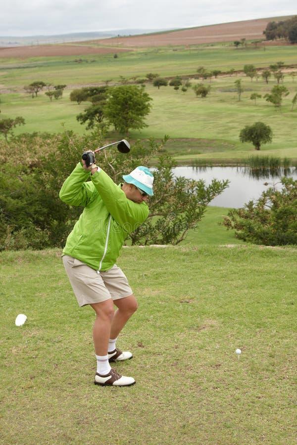 Golfer backswing