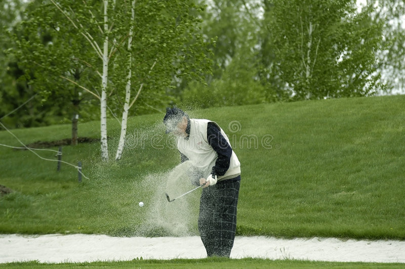 Download A golfer beats out a ball stock photo. Image of greens - 1837254
