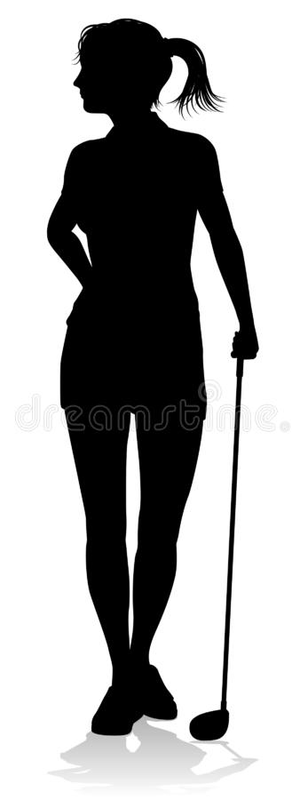 Golfer Golf Sports Person Silhouette vector illustration