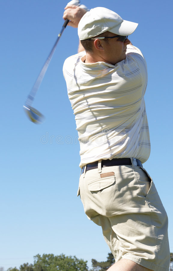 Download Golfer Hitting The Ball Royalty Free Stock Images - Image: 6869629