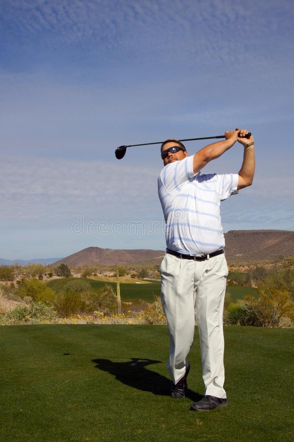 Download Golfer Hitting His Drive stock photo. Image of ball, golf - 13115762