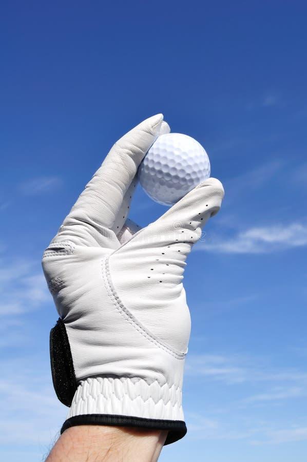 Golfer Holding a Golf Ball stock image