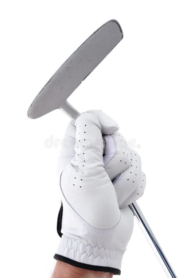 Download Golfer Holding a Putter stock image. Image of club, hold - 12963237