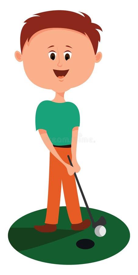 Golfer, ilustração, vetor ilustração do vetor