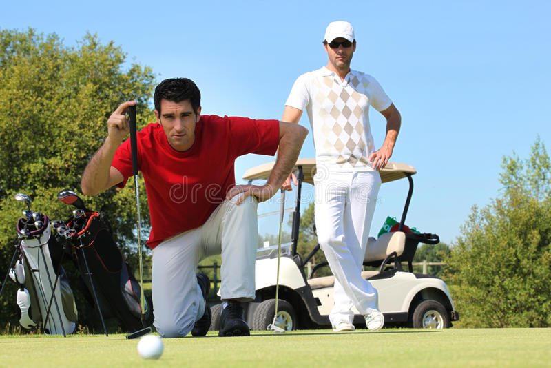 Download Golfer Kneeling Stock Image - Image: 28298071