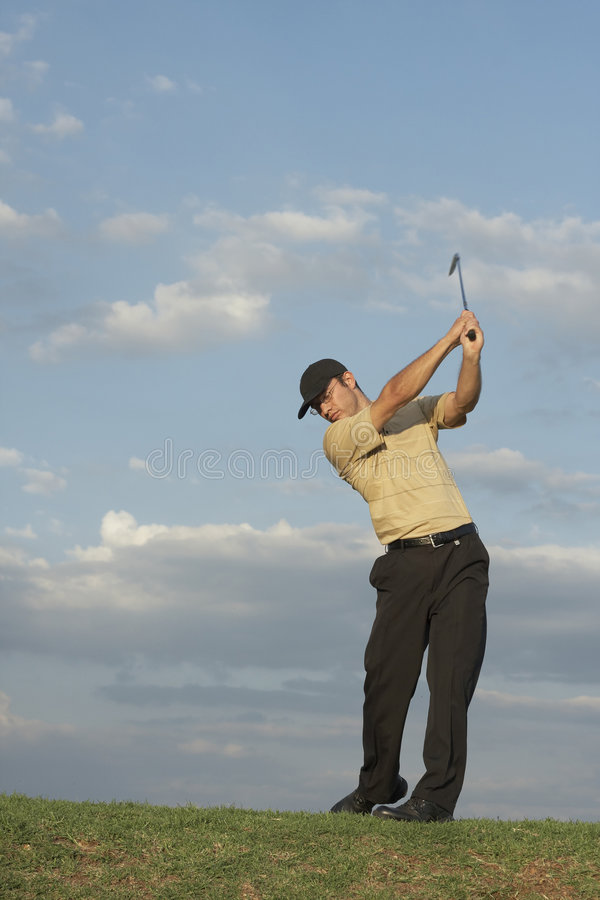 Golfer - Man royalty free stock images