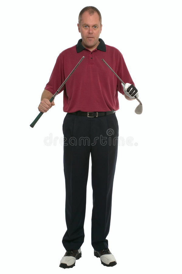 Golfer Oh F.... stock photos