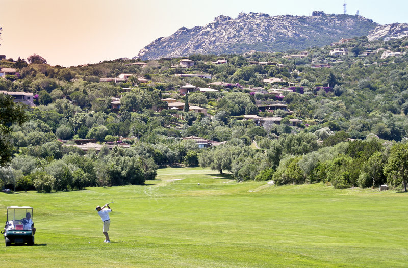 Golfer at Pevero