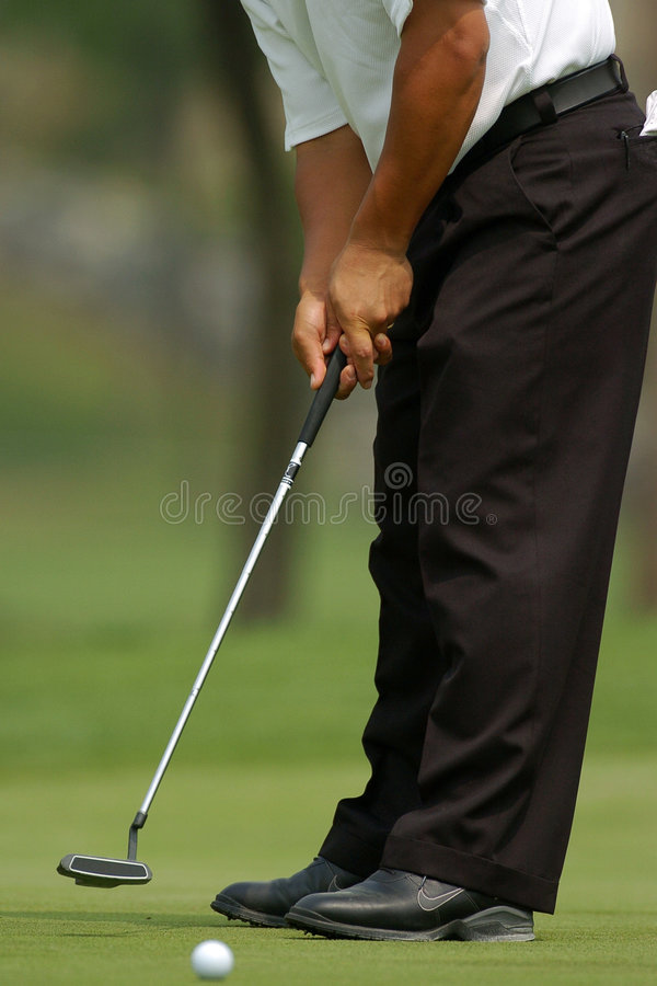 Download Golfer putting 01 stock image. Image of ball, white, hole - 1715005
