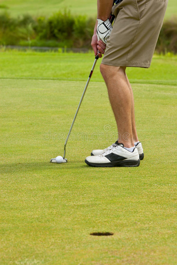 Download Golfer putting stock image. Image of course, hobby, recreation - 20018985