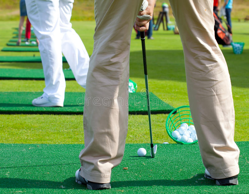 Golfer ready to tee off royalty free stock images