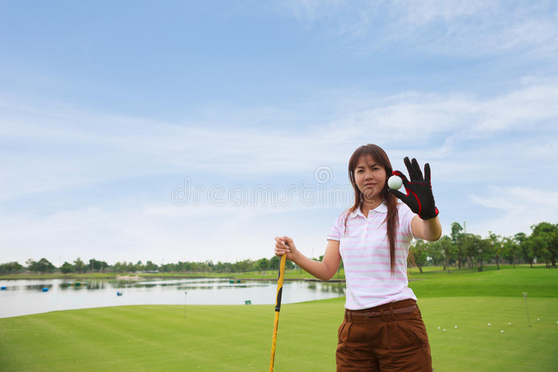 Download Golfer show golf ball stock image. Image of playing, pretty - 24955207