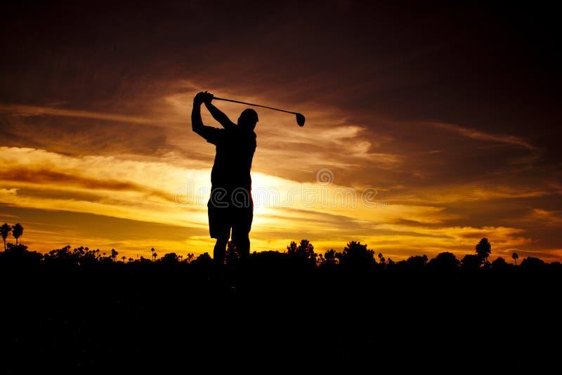 Download Golfer at Sunset stock image. Image of sunrise, ball - 19889999