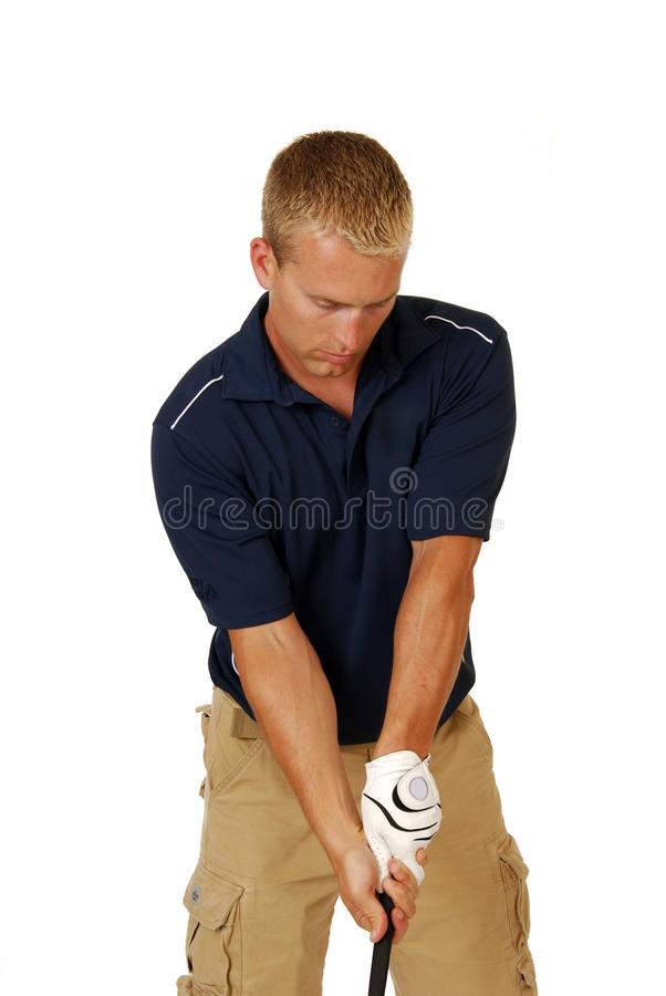 Download Golfer swinging his club stock photo. Image of golf, casual - 13095844