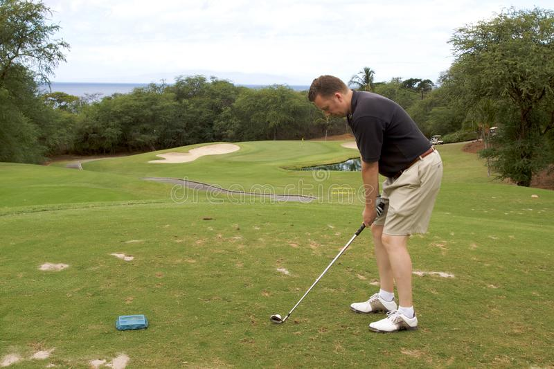 Download Golfer Teeing Off Royalty Free Stock Photo - Image: 13115755