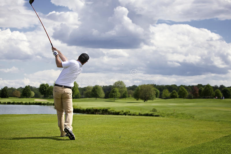 Download Golfer teeing off stock photo. Image of court, adult - 14448906