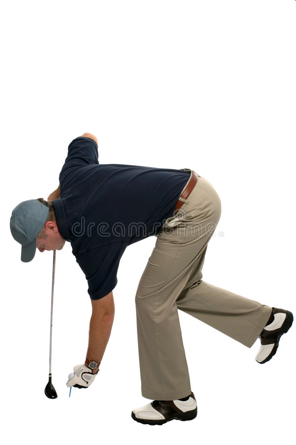 Download Golfer Teeing Up Royalty Free Stock Photo - Image: 3571715