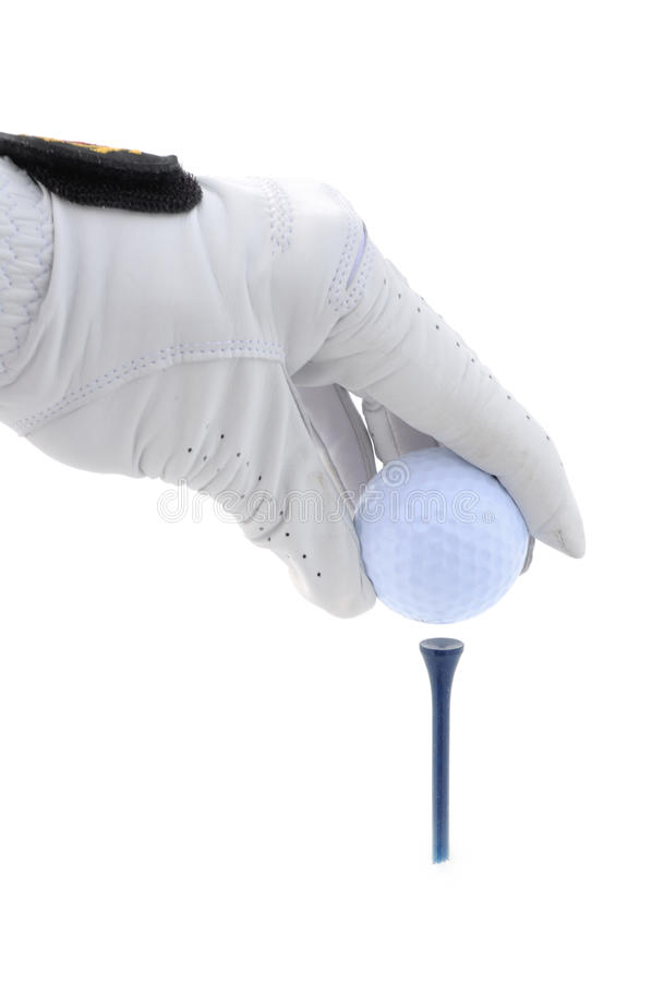 Download Golfer Teeing Up A Golf Ball Stock Image - Image: 12929083