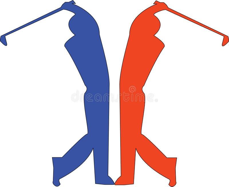 Golfers royalty free illustration