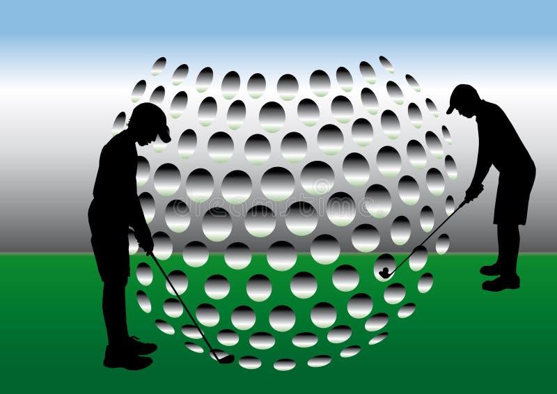 Golfers stock illustration