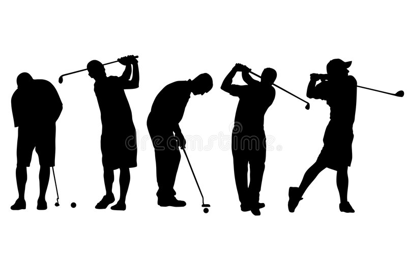 Golfers vector illustration