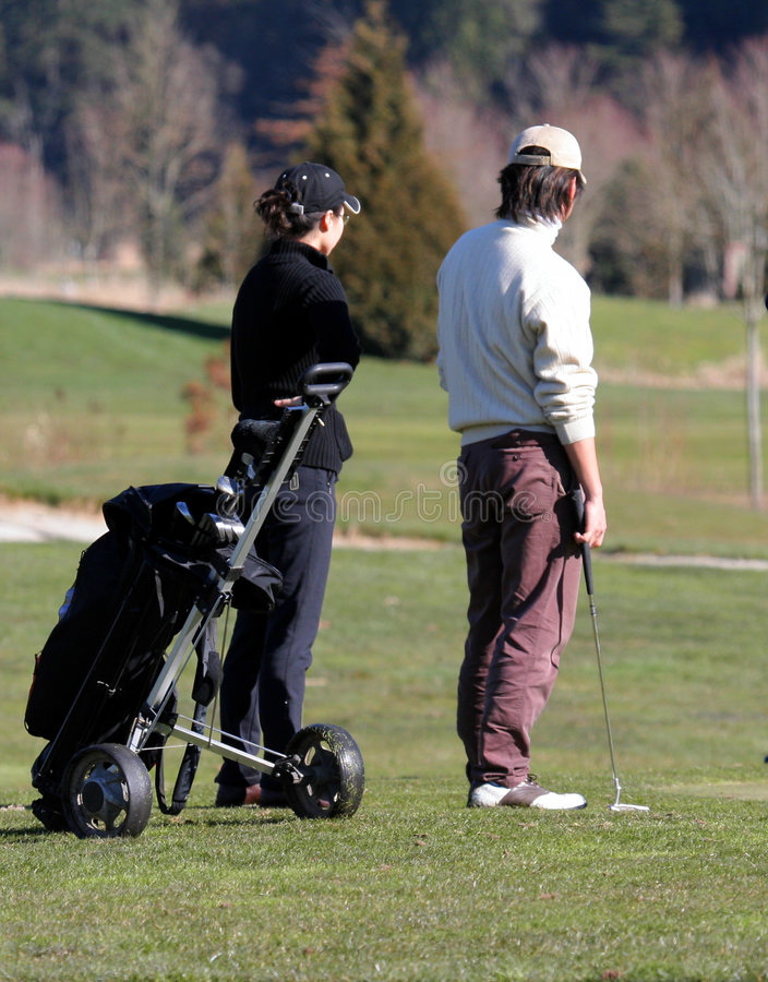 Golfers stock photography