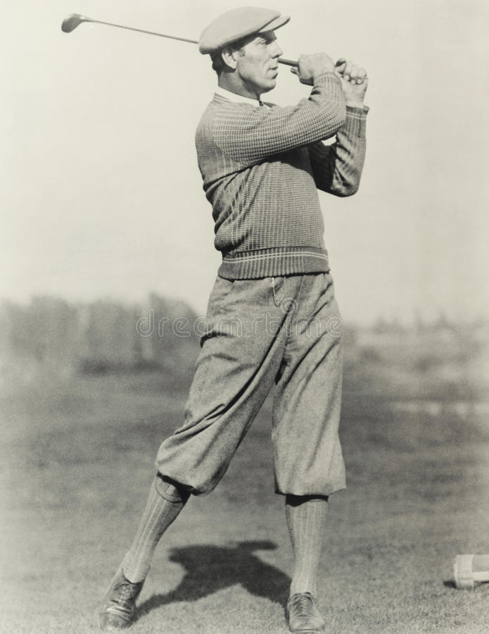 Golfers stance stock images