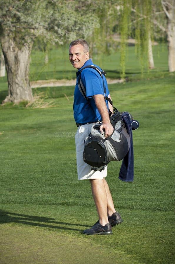 Golfeur photo stock